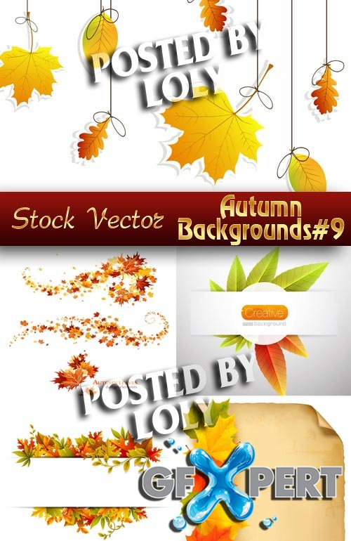 Autumn backgrounds #9 - Stock Vector