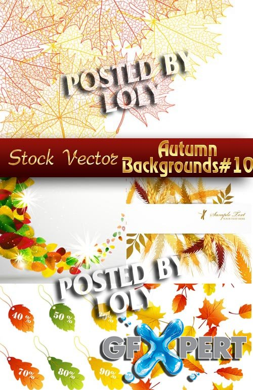 Autumn backgrounds #10 - Stock Vector