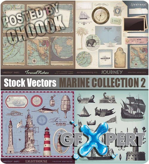 Marine collection 2 - Stock Vector