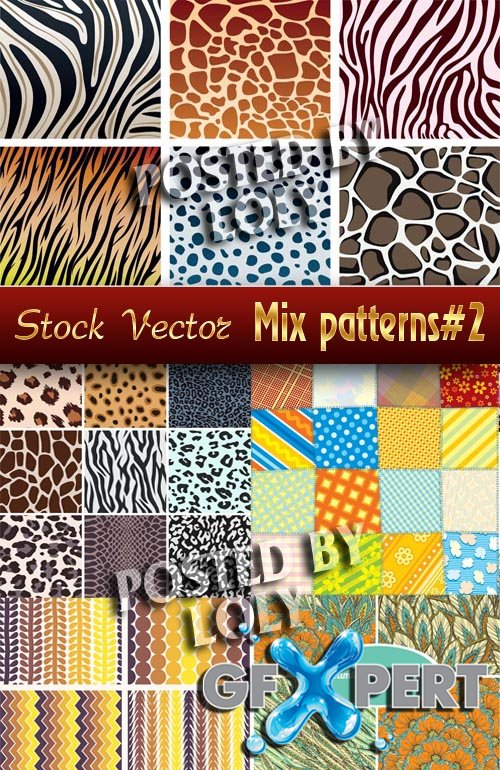 Mix Patterns # 2 - Stock Vector
