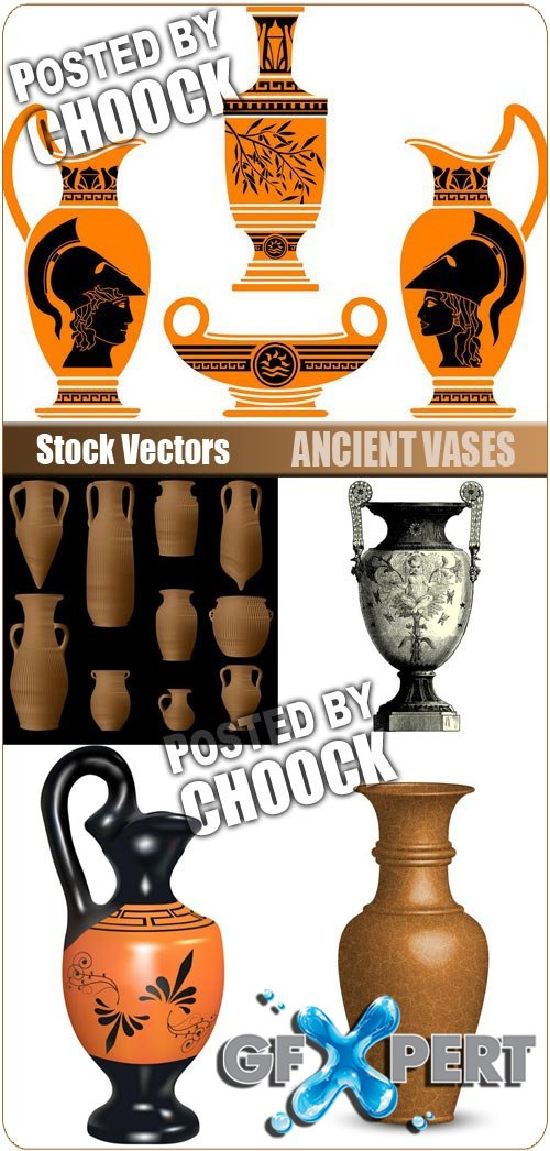 Ancient vases - Stock Vector