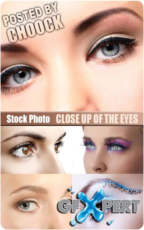 Close up of the eyes - Stock Photo