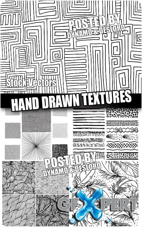 Hand drawn textures - Stock Vectors