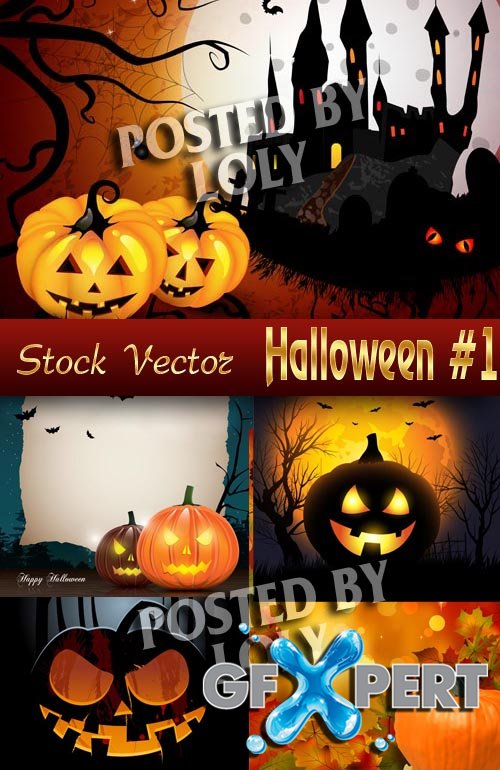 Halloween #1 - Stock Vector