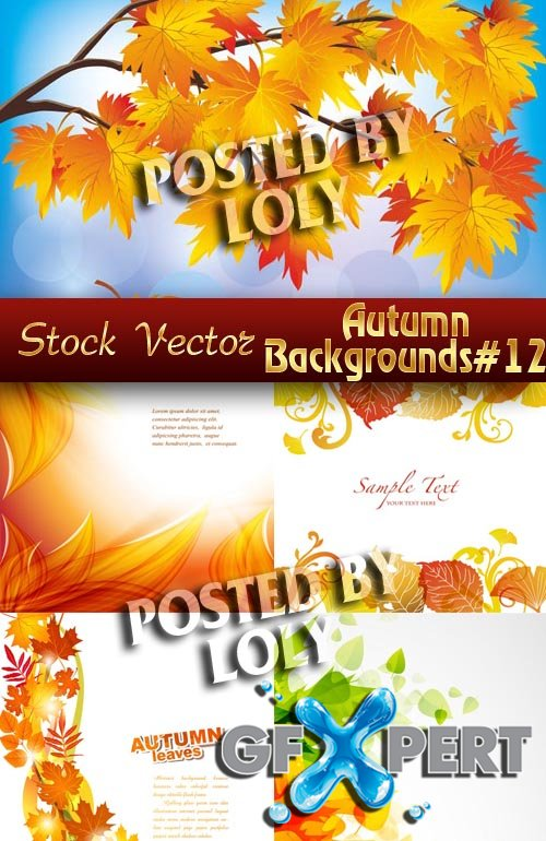 Autumn backgrounds #12 - Stock Vector