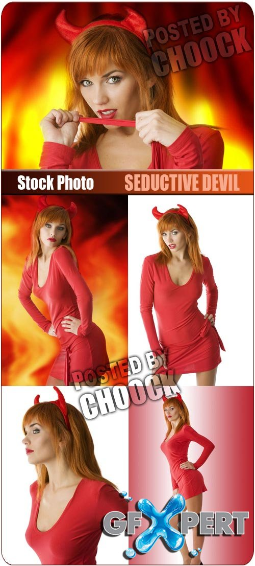 Seductive devil - Stock Photo