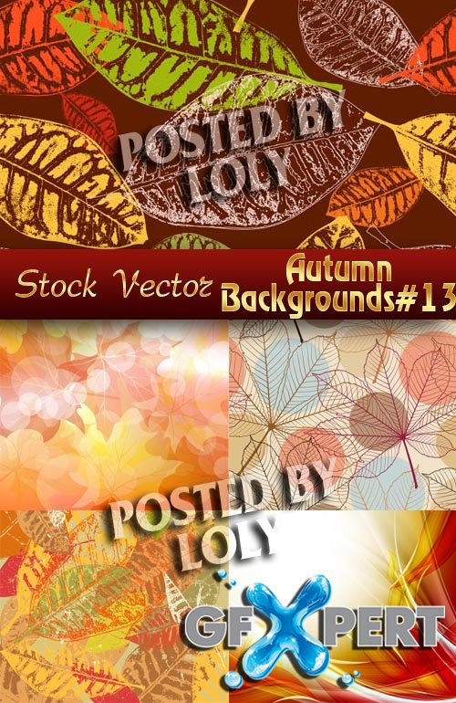 Autumn backgrounds #13 - Stock Vector
