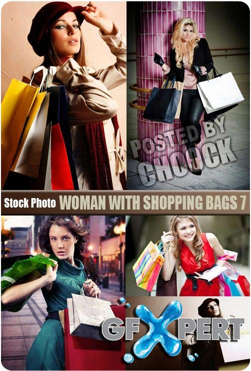 Woman with shopping bags 7 - Stock Photo