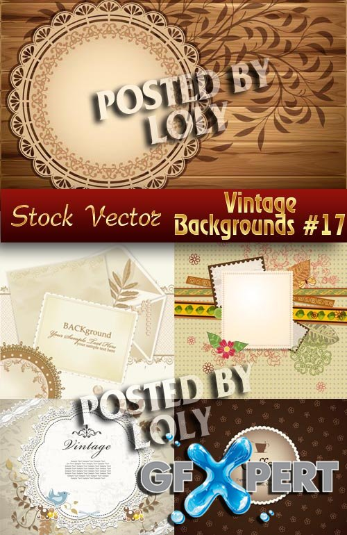 Vintage backgrounds #17 - Stock Vector
