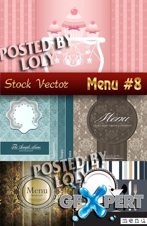 Restaurant menus #8 - Stock Vector