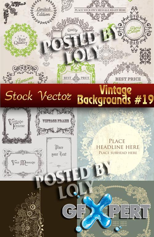 Vintage backgrounds #19 - Stock Vector