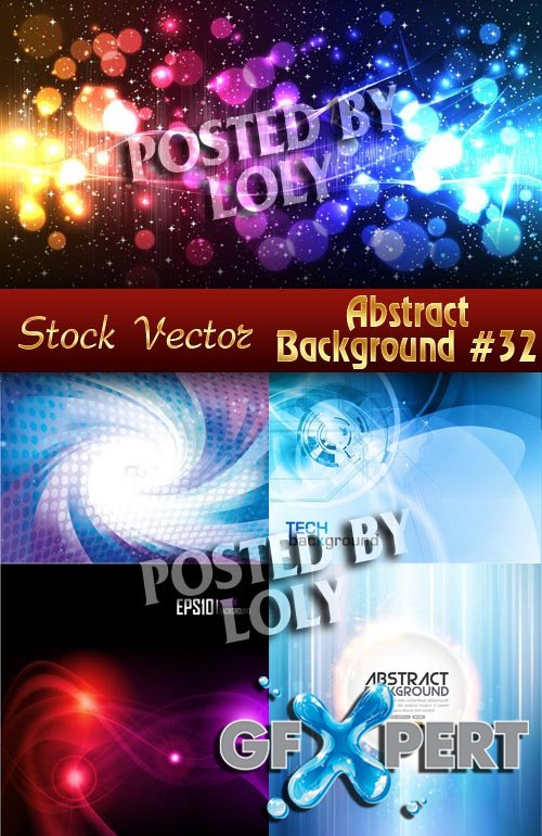 Vector Abstract Backgrounds #32 - Stock Vector