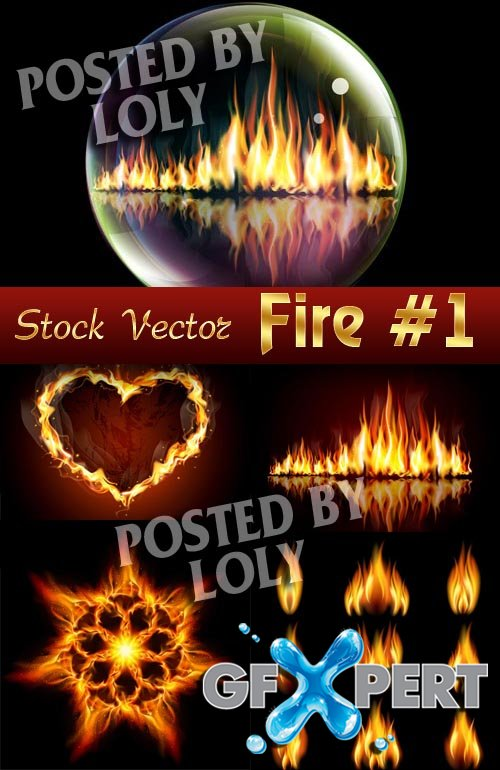 Vector Fire #1 - Stock Vector