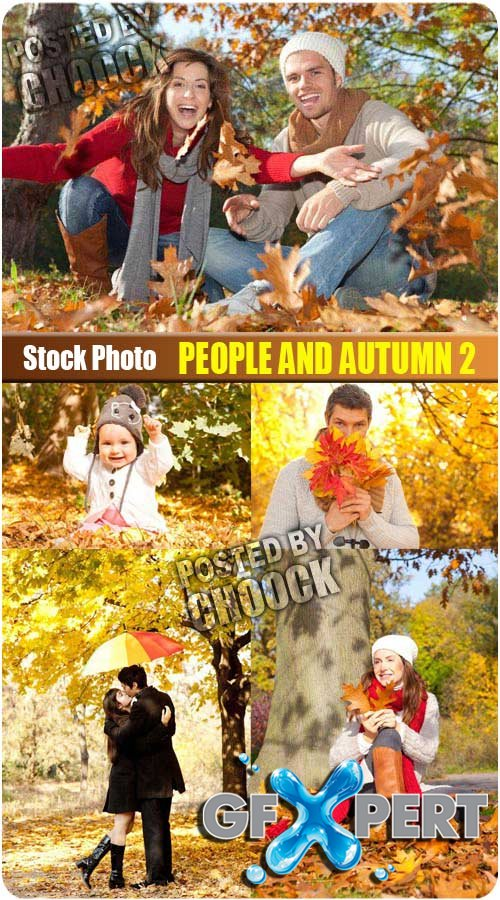 People and autumn 2 - Stock Photo