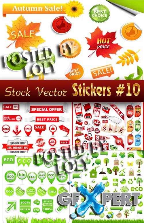 Stickers. SALE #10 - Stock Vector