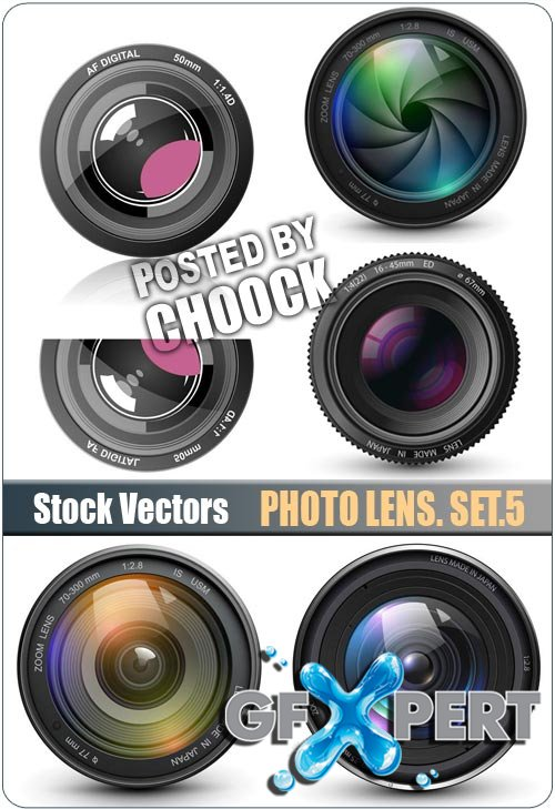 Photo lens. Set.5 - Stock Vector