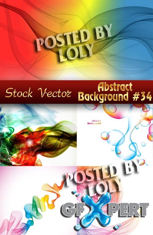 Vector Abstract Backgrounds #34 - Stock Vector