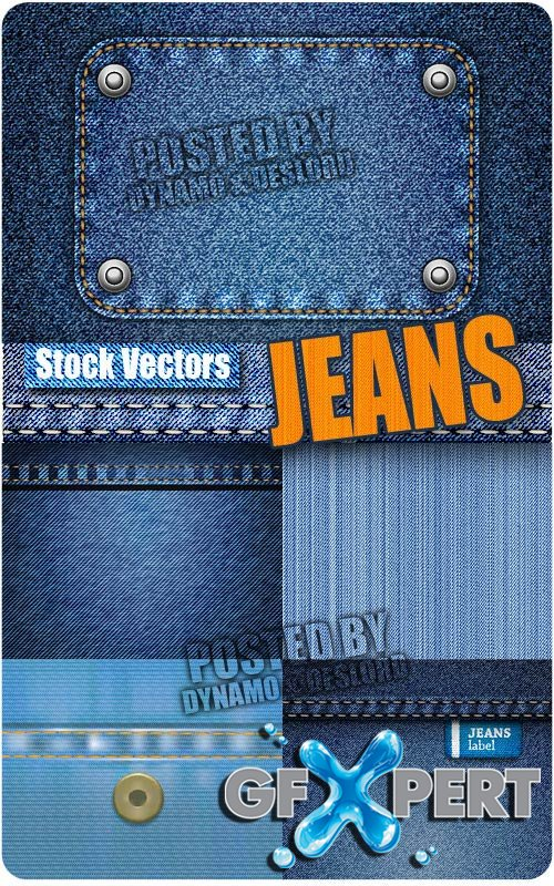 Jeans fabric - Stock Vectors