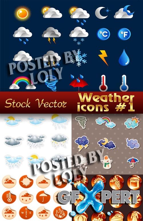 Icon. Weather #1 - Stock Vector