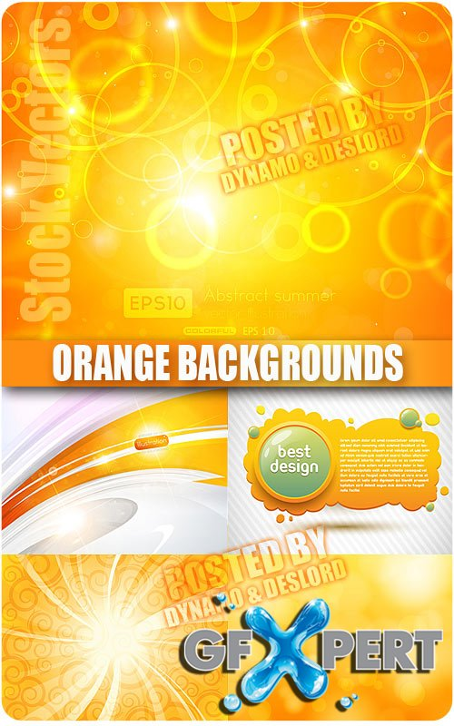 Orange backgrounds - Stock Vectors