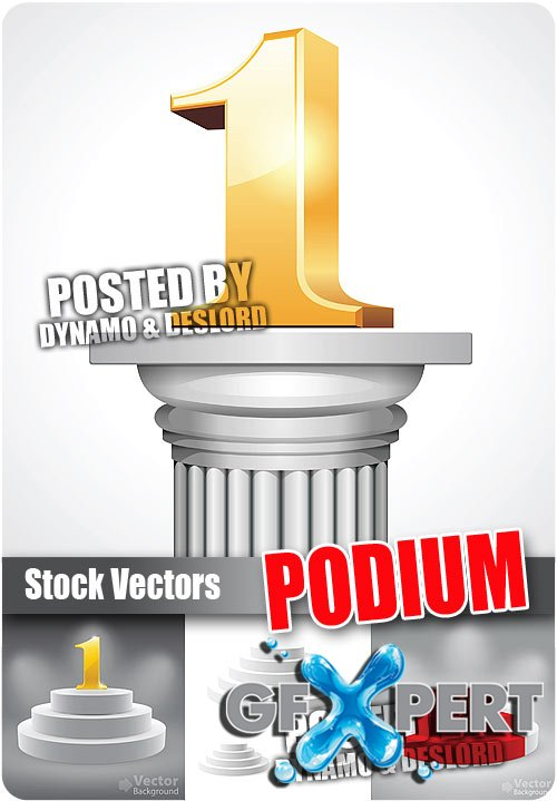 Podium - Stock Vectors