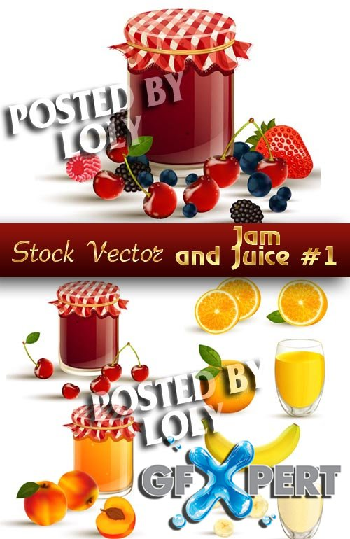 Jam and Juice #1 - Stock Vector