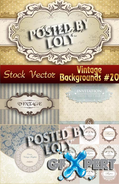 Vintage backgrounds #20 - Stock Vector