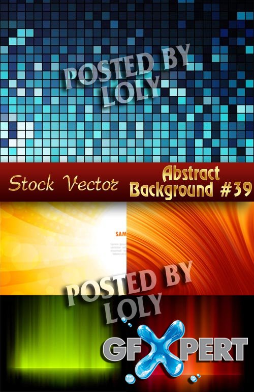 Vector Abstract Backgrounds #39 - Stock Vector