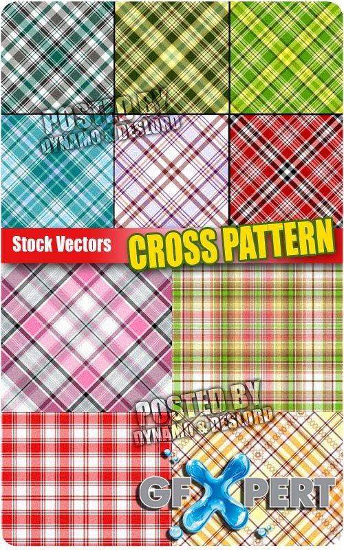 Cross pattern - Stock Vectors