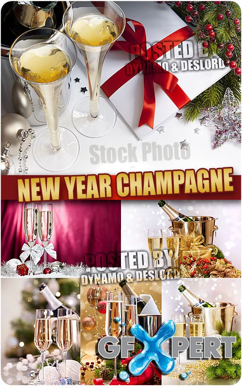 New Year Champagne - UHQ Stock Photo