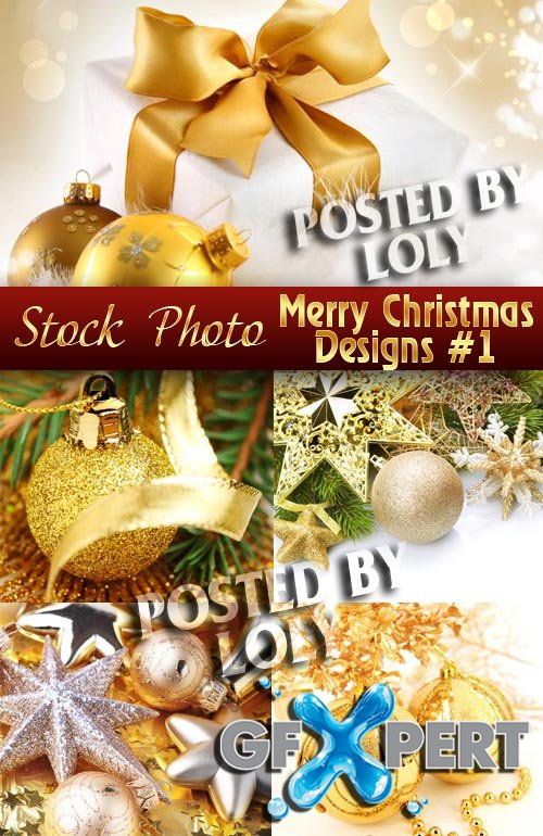 Merry Christmas Designs #1 - Stock Photo