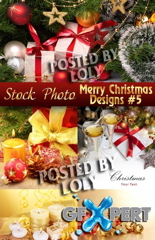Merry Christmas Designs #5 - Stock Photo