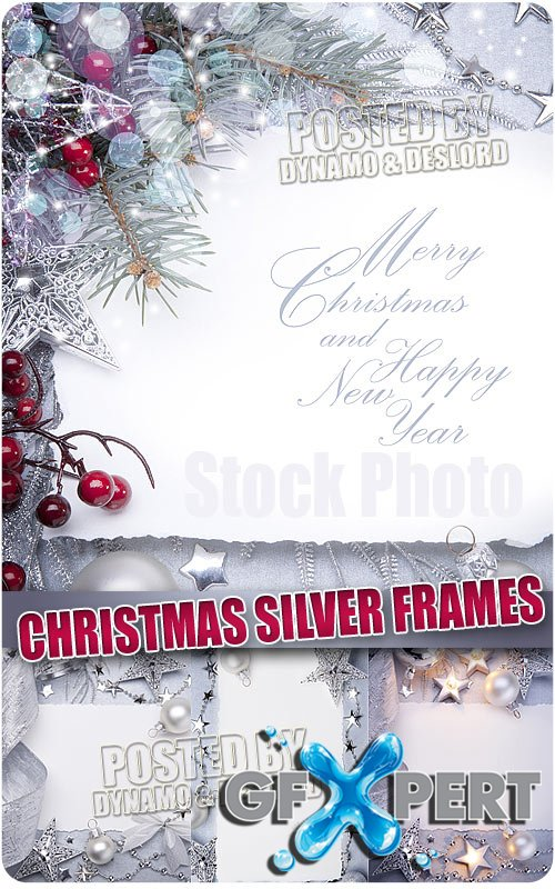 Christmas Silver Frames - UHQ Stock Photo