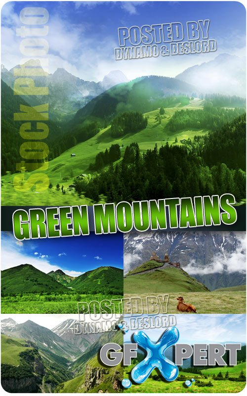 Green Mountains - UHQ Stock Photo
