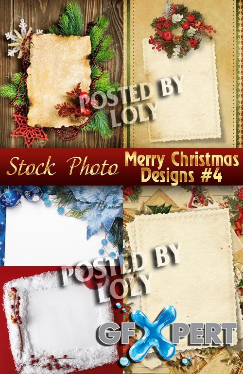 Merry Christmas Designs #4 - Stock Photo