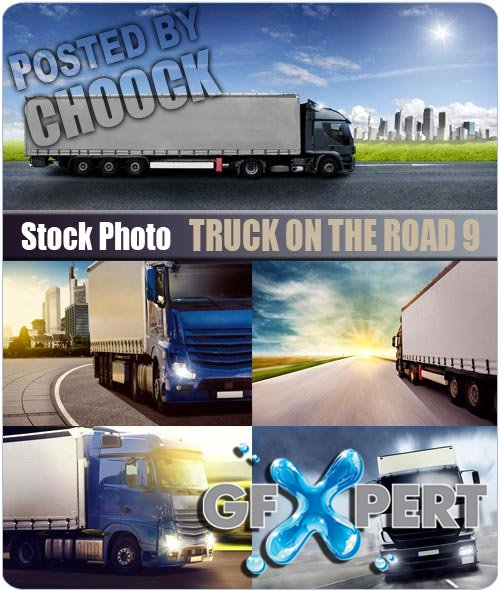Truck on the road 9 - Stock Photo