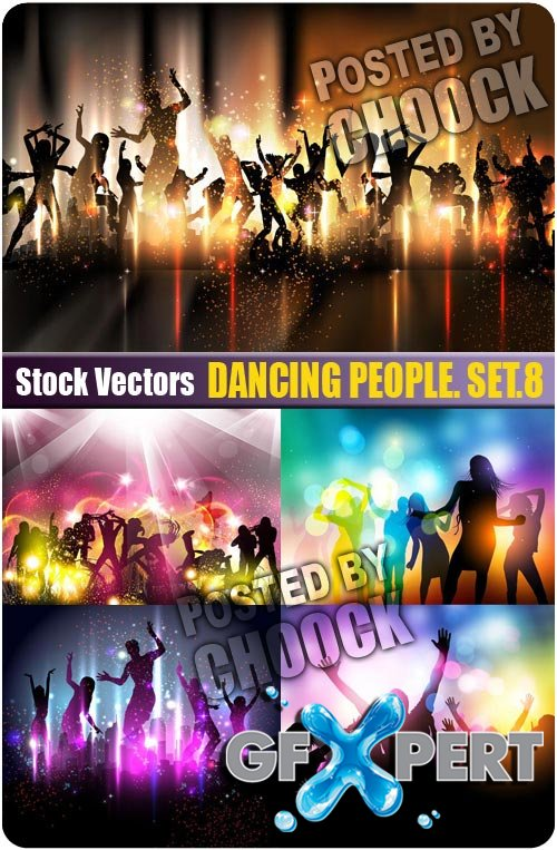 Dancing people. Set.8 - Stock Vector