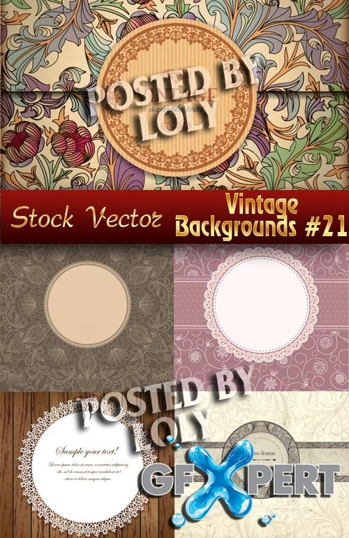 Vintage backgrounds #21 - Stock Vector