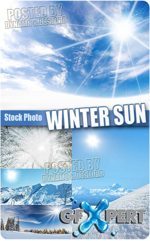 Winter sun - UHQ Stock Photo