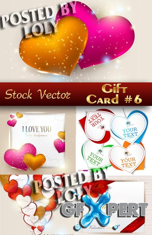 Gift cards #6 - Stock Vector