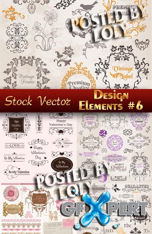 Design elements #6 - Stock Vector
