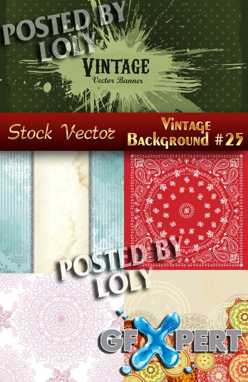 Vintage backgrounds #25 - Stock Vector
