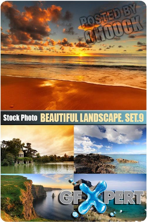 Beautiful landscape. Set.9 - Stock Photo
