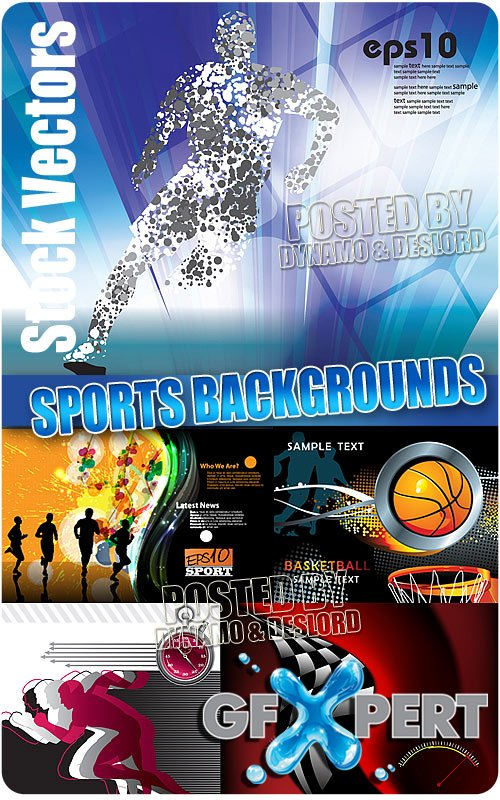 Sports background - Stock Vectors