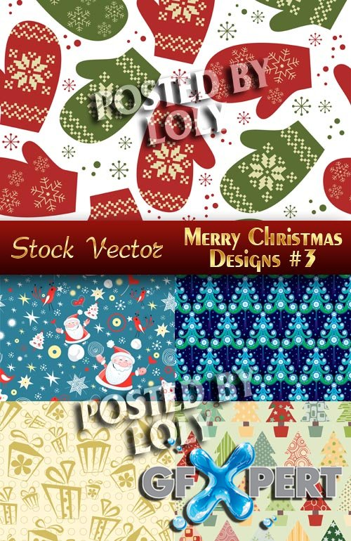 Merry Christmas Designs #3 - Stock Vector