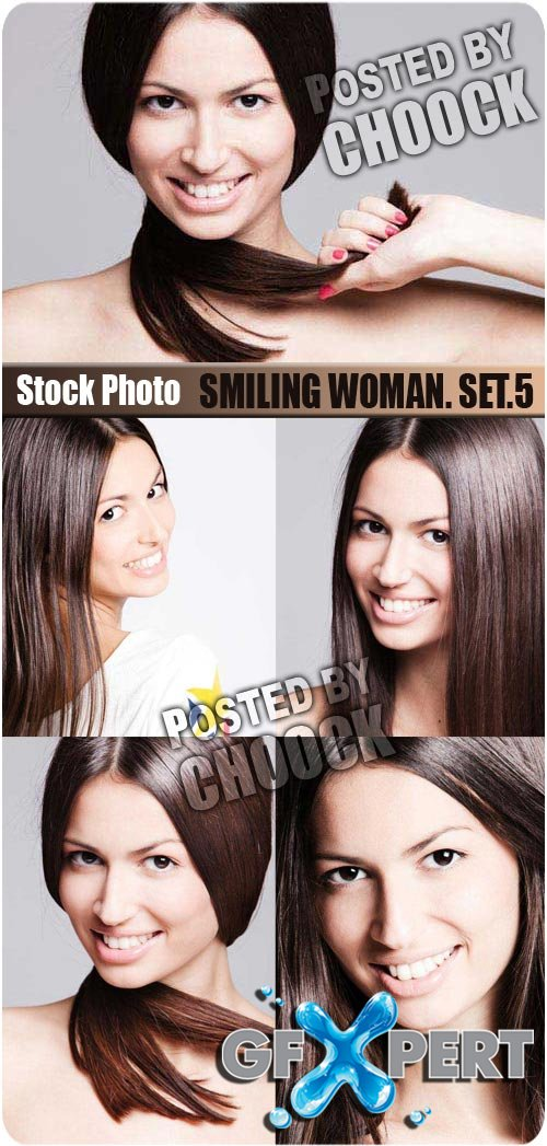 Smiling woman. Set.5 - Stock Photo
