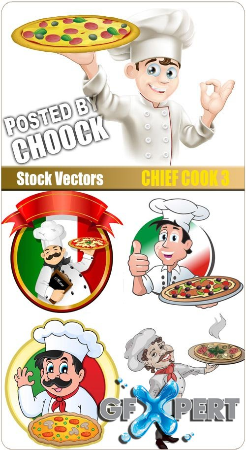 Chief cook 3 - Stock Vector