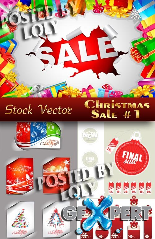 Free Christmas Sale #1 - Stock Vector download