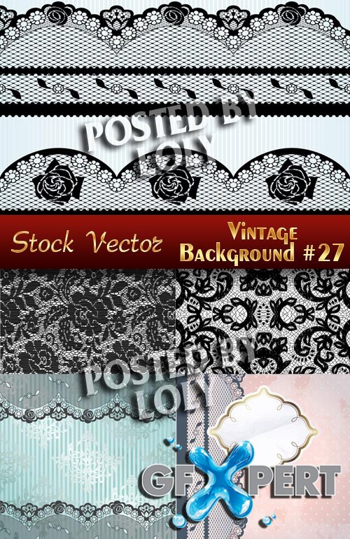 Vintage backgrounds #27 - Stock Vector