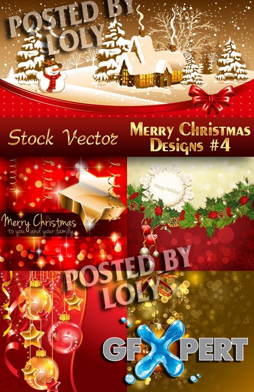 Merry Christmas Designs #4 - Stock Vector